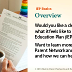 IEP training overview page