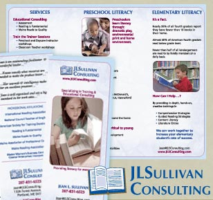 brochure and logo design for educational consulting