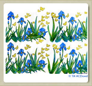 Iris wrapping  paper design