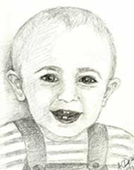 sketch of a 15 month old boy