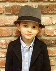picture of a three year old boy in a hat