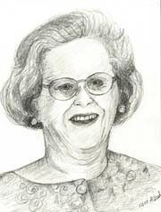 portrait of older woman with glasses